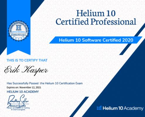 Helium10Zertifikat